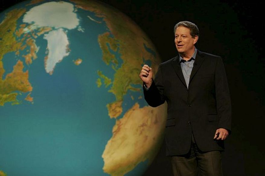 "**FILE** Former Vice President Al Gore in his 2006 documentary ""An Inconvenient Truth"""