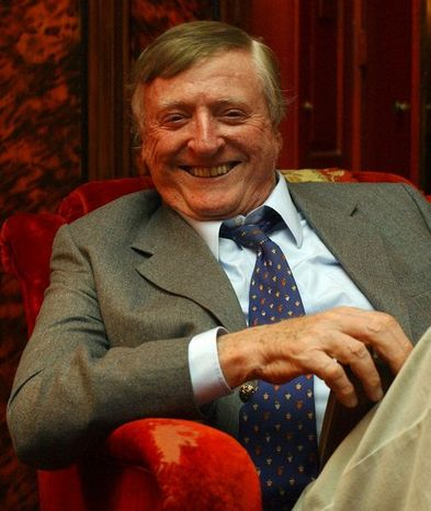 "**FILE**William F. Buckley Jr., the conservative pioneer and television ""Firing Line"" host, smiles during an interview at his home in New York on July 20, 2004.  Buckley died Wednesday morning, Feb. 27, 2008.(AP Photo/Frank Franklin II)"