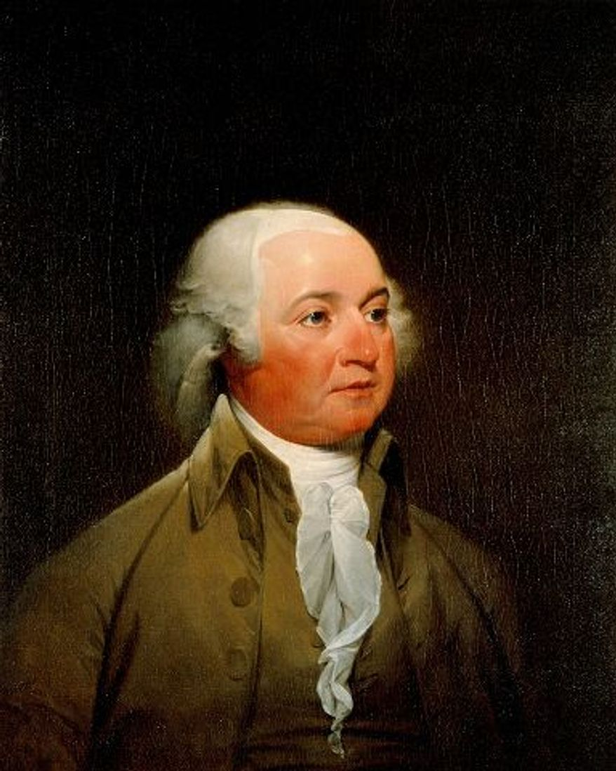 White House Historical Association (White House Collection) John Trumbull's 1793 portrait of John Adams was done in sittings during Adams' vice presidency. He was elected president in 1796.