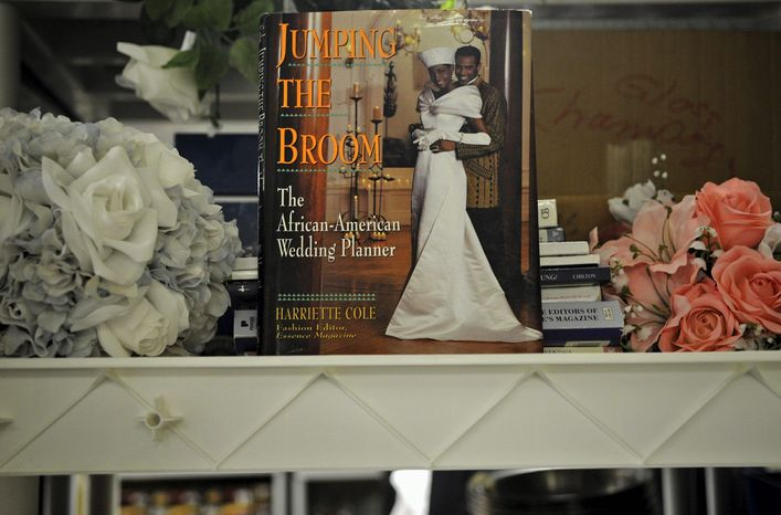 **FILE** Silk flowers and wedding-planning guides are among the items available at St. Anthony's Bridal in Bethesda, a one-stop lending shop fo