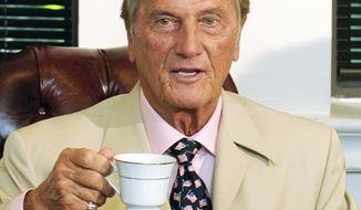 """SPEAKING UP: Conservative singer Pat Boone says that """"word is getting out that there's many of us in this business."""" Watch: <a href=""""http://www.washingtontimes.com/media/video"""">www.washingtontimes.com/media/video</a>.(PETER LOCKLEY/THE WASHINGTON TIMES)"""