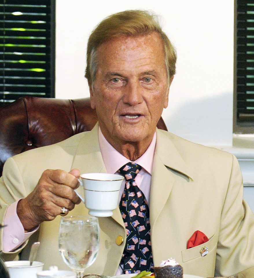 "SPEAKING UP: Conservative singer Pat Boone says that ""word is getting out that there's many of us in this business."" Watch: <a href=""http://www.washingtontimes.com/media/video"">www.washingtontimes.com/media/video</a>.(PETER LOCKLEY/THE WASHINGTON TIMES)"