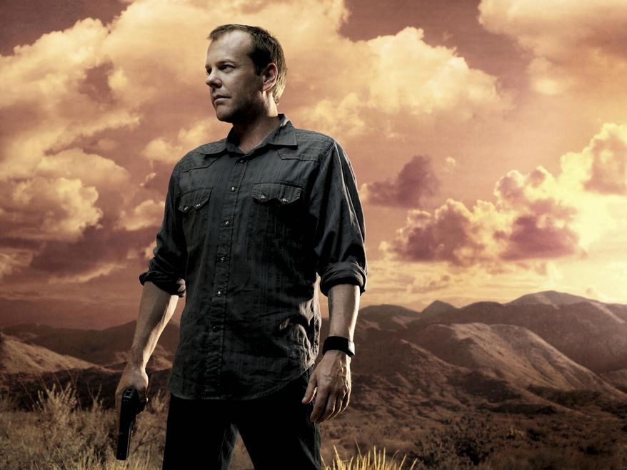 "Kiefer Sutherland as Jack Bauer in Fox's ""24."" (Anthony Mandler/FOX)"