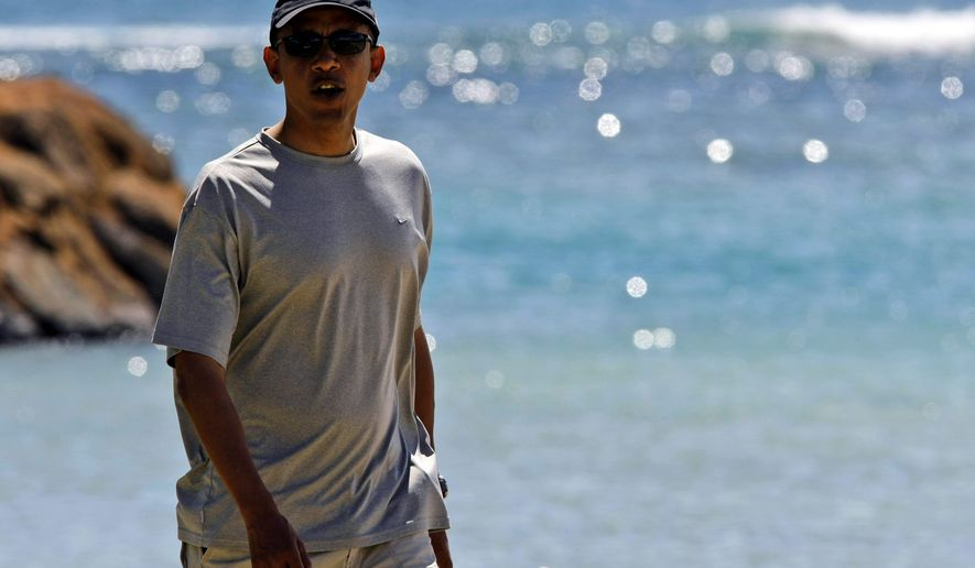Democratic presidential candidate Sen. Barack Obama is on vacation this week in Honolulu. But his campaign has not taken a break; 16 of the 18 states it deems as battlegrounds will see the new ad. (Associated Press)