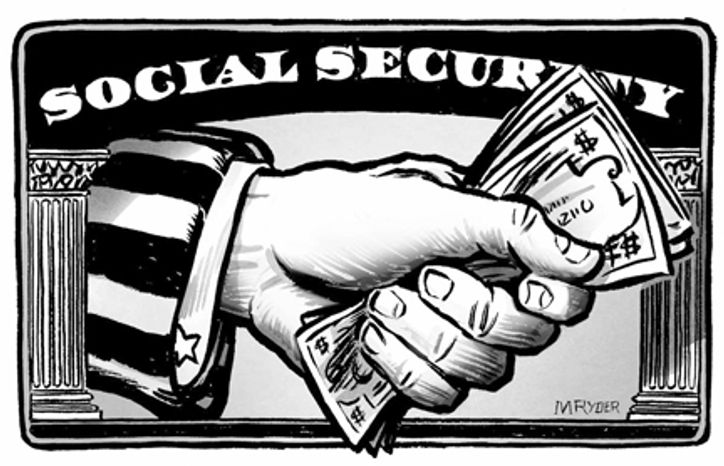 The Social Security retirement system was implemented in the 1930s. (Illustration by M. Ryder)