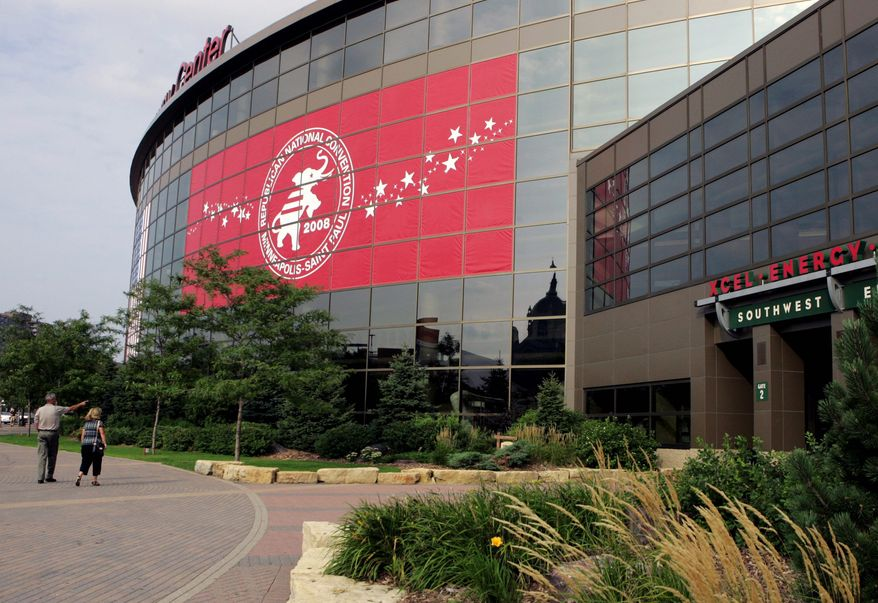 The Xcel Energy Center in St. Paul, Minn., is where speeches will be delivered and Sen. John McCain's nomination formalized, but around it is an inviting metropolitan area to explore. (Associated Press)