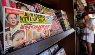 John Edwards' affair was just the latest sensational story to grace the cover of the National Enquirer. (Associated Press)