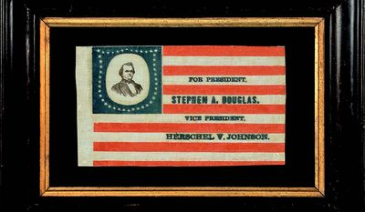 A campaign kerchief for Zachary Taylor freely used the flag.