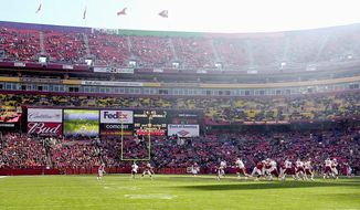 **FILE** FedEx Field in Landover (The Washington Times)