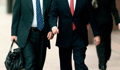 BLOOMBERG NEWS - Former Enron Corp. Chief Executive Officer Jeffrey K. Skilling and his lead trial counsel, Daniel Petrocelli, return to the courthouse in 2006.