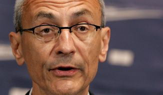 John Podesta speaks at the National Press Club in Washington in this June 27, 2007, file photo. (AP File Photo/Pablo Martinez Monsivais) ** FILE **