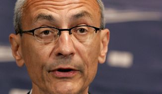 ** FILE ** John Podesta speaks at the National Press Club in Washington in this June 27, 2007, file photo. (AP File Photo/Pablo Martinez Monsivais)