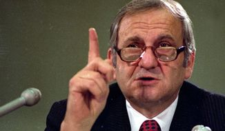 ** FILE ** Chrysler Chairman Lee Iacocca testifies in 1979 before the House banking committee. (Associated Press)