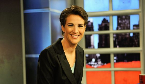 "Rachel Maddow from MSNBC's ""The Rachel Maddow Show"" (Associated Press/MSNBC, Ali Goldstein)"