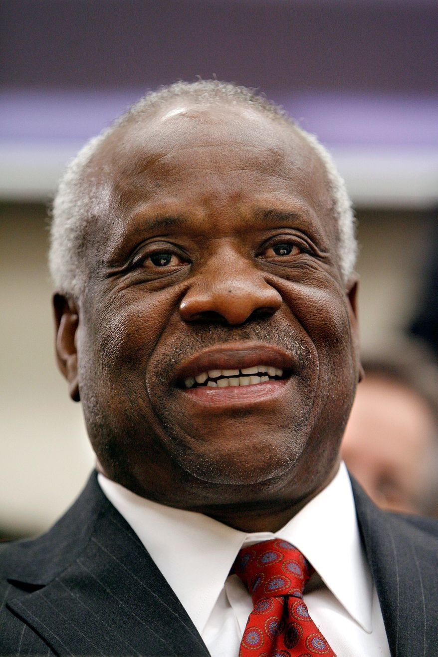 GETTY IMAGES Supreme Court Justice Clarence Thomas (left) picked up a lawsuit by New Jersey lawyer Leo Donofrio, who argues that Barack Obama is ineligible to be president, and referred it to the full court after Justice David H. Souter (right) had refused it. The court Friday is to vote whether to accept the case.