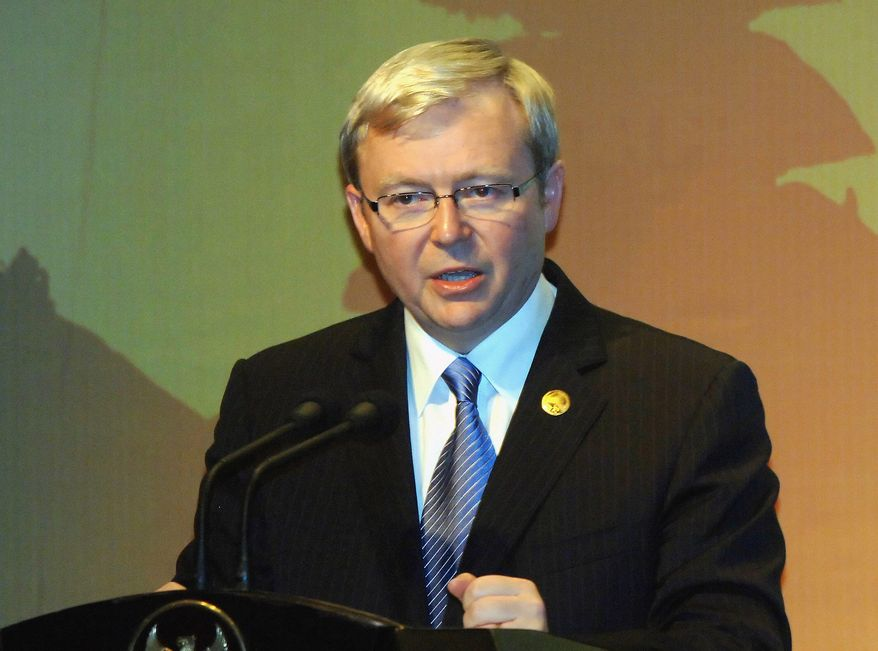** FILE ** Kevin Rudd (AFP/Getty Images/Sonny Tumbelaka)