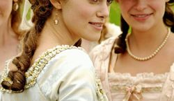 "** FILE ** In this file photo from 2008, Keira Knightley is the title character, an 18th-century aristocrat ahead of her time, in ""The Duchess."""