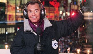 "** FILE ** Dick Clark brings in the New Year from New York's Times Square on ""New Year's Rockin' Eve"" in this undated photo. (AP Photo/ABC, Donna Svennevik)"