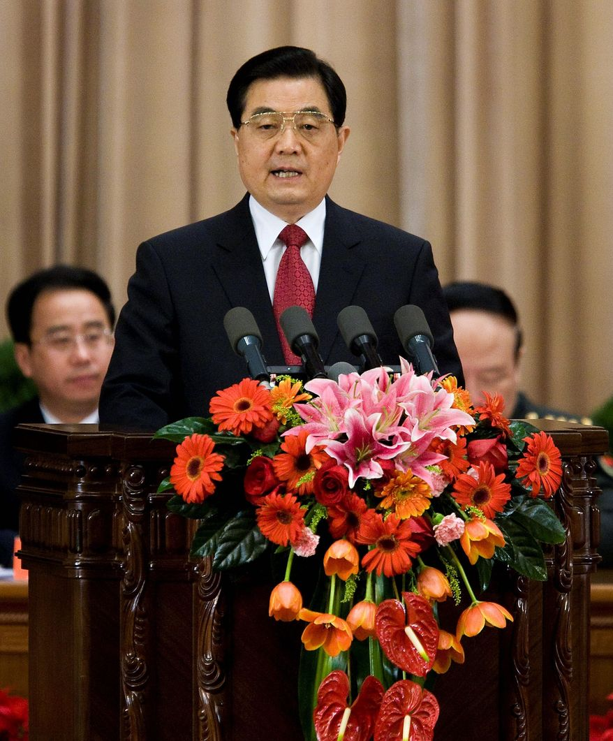 **FILE** Hu Jintao is president of China, which has a one-child policy to control population growth. (Associated Press)