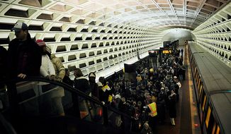 **FILE** Craigslist says Metro stations are prime places for 'Missed Connections' (Barbara L. Salisbury/The Washington Times)