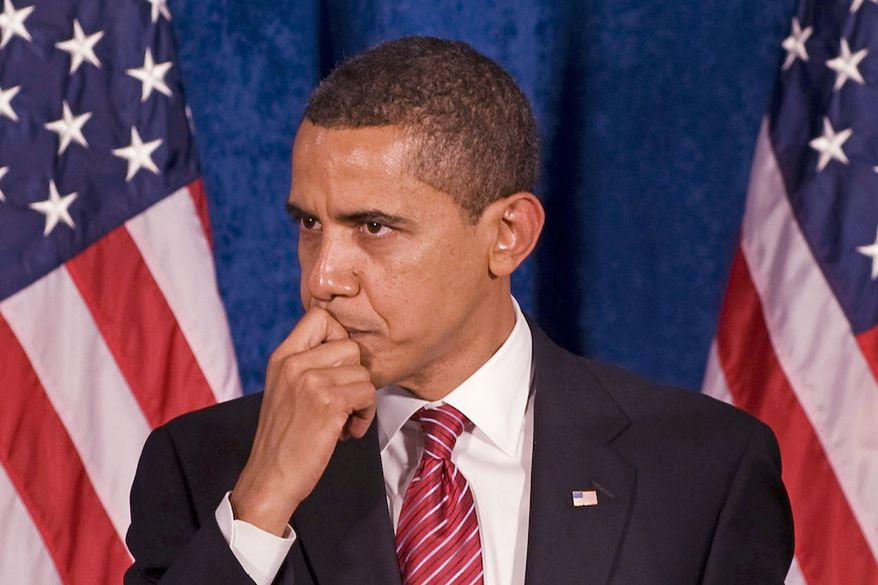"""AGENCE FRANCE-PRESSE/GETTY IMAGES ** FILE ** President Obama warned in February of a """"national catastrophe"""" if Congress doesn't """"move swiftly"""" to pass an economic-stimulus plan, leveling a campaign-style attack on Republicans for opposing the legislation in favor of tax cuts."""