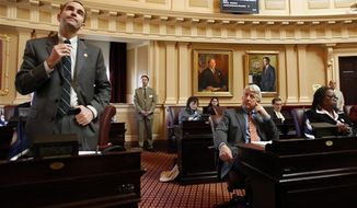 **FILE** Sen. Ralph S. Northam, D-Norfolk during the floor session of the Senate in Richmond, Va., Tuesday, Feb. 17, 2009. (AP Photo/Richmond Times-Dispatch, Bob Brown).