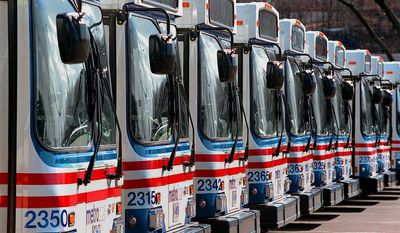 **FILE** Metro buses. Nancy Pastor / The Washington Times.