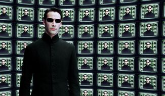 "** FILE ** Keanu Reeves stars as Neo in ""The Matrix Reloaded."""