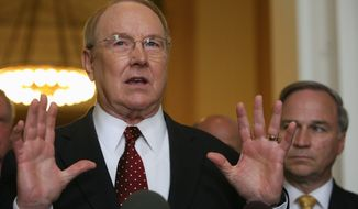 ** FILE ** In this 2009 file photo, James Dobson, founder of Focus on the Family, criticized President Obama for declining to observe the long-standing National Day of Prayer event at the White House. (Katie Falkenberg/The Washington Times)