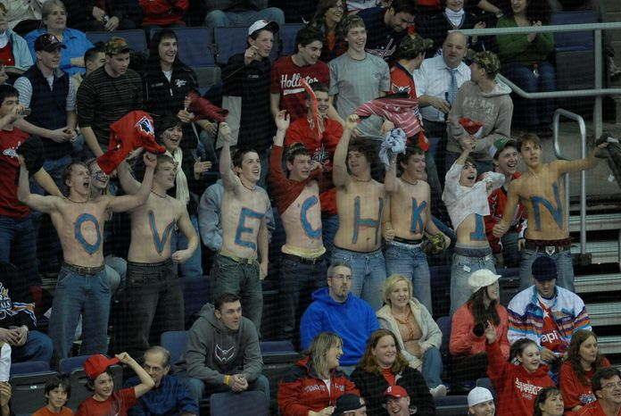 ** FILE ** Fans of the Washington Capitals show their allegiance as their team takes on the Tampa Bay Lightning at the Verizon Center in 2009. (The Washington Times)