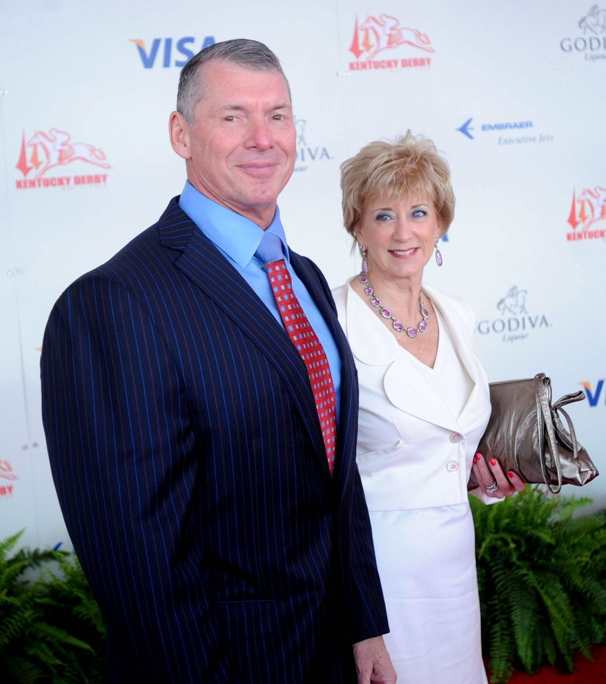 Getty Images WWE magnates Vince and Linda McMahon.