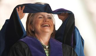 "Hillary Clinton would go back to school, but in name only, under a plan devised by a controversial donor. While she was serving as secretary of state, Bernard Schwartz proposed renaming New York's Baruch College School of Public Affairs the ""Hillary Rodham Clinton School of Public and International Affairs."""