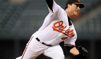 Associated Press Orioles starter Jason Berken gave up two runs on seven hits in five innings.