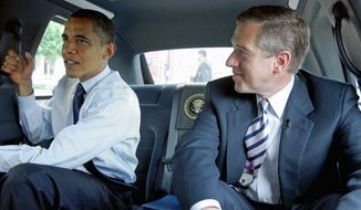 """nbc universal Brian Williams' interview with President Obama was a puff piece with only """"a few probing moments,"""" which were """"overshadowed by the flash of hanging out in the back of the Auto One limo,"""" a San Francisco Chronicle columnist writes."""