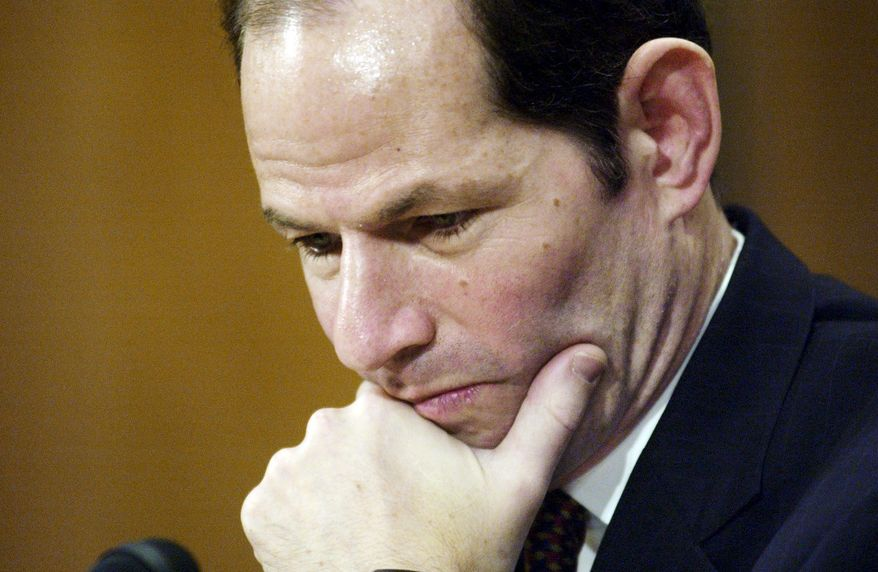 ** FILE ** Former New York Gov. Eliot Spitzer (The Washington Times)