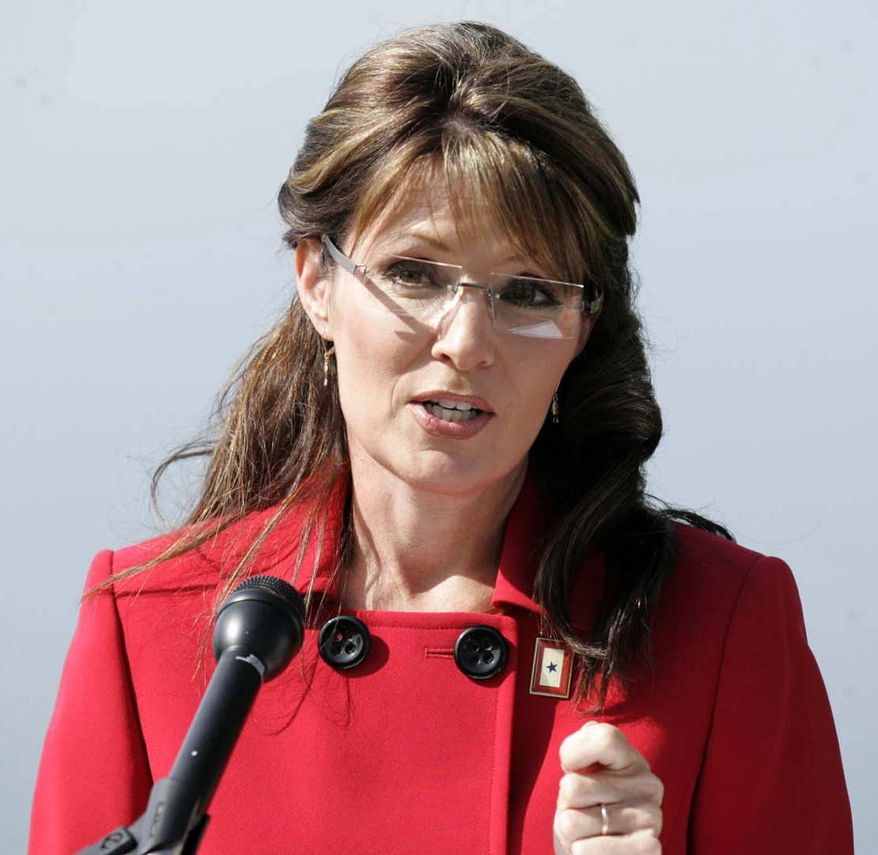 Alaska Gov. Sarah Palin announces that she is stepping down from her position as Governor in Wasilla, Alaska, on Friday, July 3, 2009. The former Republican vice presidential candidate made the surprise announcement, saying she would step down July 26 but didn't announce her plans. (AP Photo/The Mat-Su Valley Frontiersman, Robert DeBerry)
