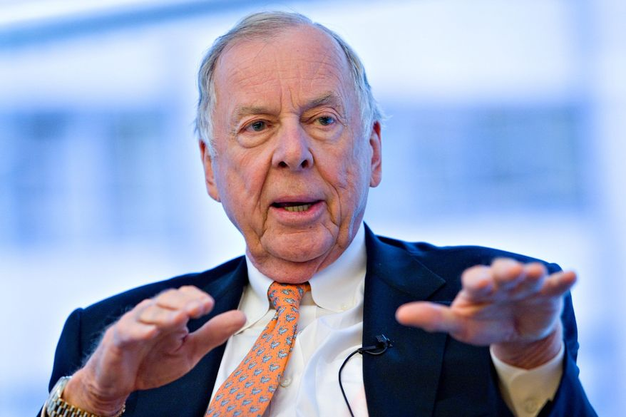 BLOOMBERG NEWS T. Boone Pickens said Tuesday that he's looking for a home for 687 giant wind turbines because his plans for a giant wind farm in Texas was scrapped by multiple problems.
