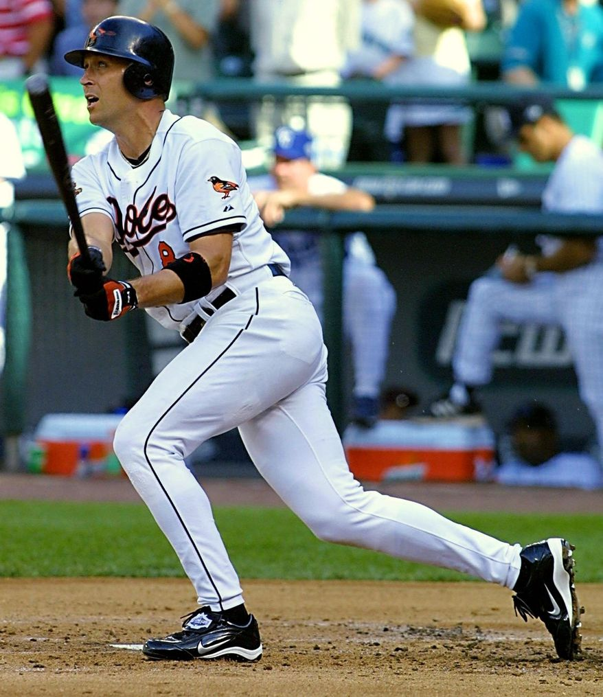 Getty Images Orioles Hall of Famer Cal Ripken Jr., homered on the first pitch he saw in the 2001 All-Star Game, the final one he played.
