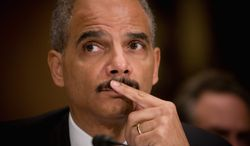 **FILE** Attorney General Eric H. Holder Jr. (The Washington Times)