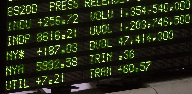 ** FILE ** The board at the New York Stock Exchange. (Associated Press)