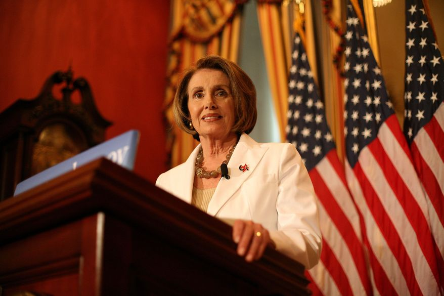 House Speaker Nancy Pelosi, California Democrat, is critical of the CBO analysis on the Democrats' health care bills. (Katie Falkenberg/The Washington Times)