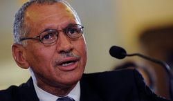 """Barbara L. Salisbury/The Washington Times Charles F. Bolden Jr., a former astronaut and retired Marine Corps major general appointed to head the National Aeronautics and Space Administration, says the job won't be easy because """"the nation still has to decide where it wants to go"""" in space exploration."""