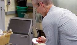"""ASSOCIATED PRESS Bruce Ivans attached this photo to an e-mail he sent in November 2001 saying he was working with """"cultures of the 'Ames' strain of Bacillus anthracis."""" The Justice Department said the FBI is working to conclude the investigation into the fatal anthrax attacks that year."""