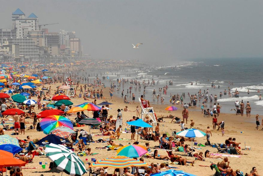 Ocean City, Md., crowds are seen in this August 2009 file photo. (ROD LAMKEY JR./THE WASHINGTON TIMES)
