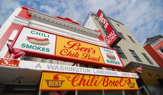 Ben's Chili Bowl and, next door to it, the restored Lincoln Theatre are landmarks in the U Street Northwest corridor. **FILE (CHARLIE MARS-MAHLAU/THE WASHINGTON TIMES)
