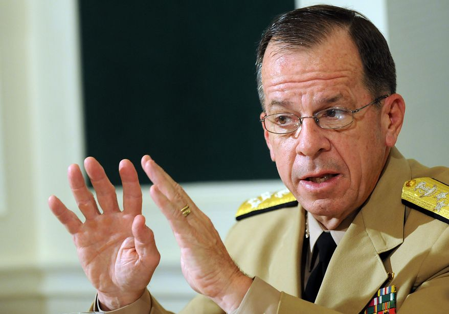 ** FILE ** Adm. Mike Mullen, chairman of the Joint Chiefs of Staff (The Washington Times)