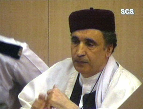 ** FILE ** This Thursday, March 14, 2002, file photo shows convicted Lockerbie bomber Abdel Basset al-Megrahi, who was due to learn Thursday, Aug. 20. 2009, whether he will be freed on compassionate grounds and allowed to return to Libya