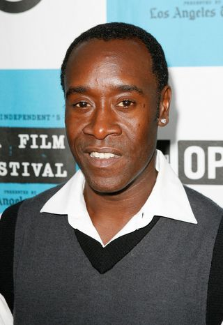 ** FILE ** Actor Don Cheadle arrives at the Los Angeles Film Festival Awards Night, Sunday, June 29, 2008, in Los