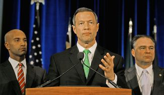 KATIE FALKENBERG/THE WASHINGTON TIMES Maryland Gov. Martin O'Malley signed a law in May that authorizes cities and counties to begin deploying speed cameras on Oct. 1. The law specifies that fines cannot exceed $40.