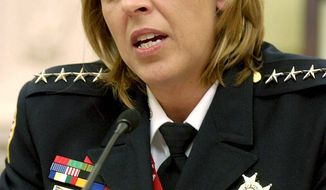 **FILE** Metropolitan Police Chief Cathy L. Lanier (The Washington Times)